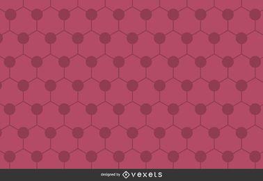 Fondo poligonal hexagonal rosa