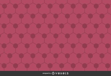 Pink hexagon polygonal background