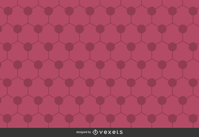 Pink hexagon polygonal background