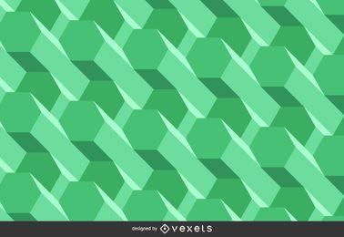 Fondo poligonal verde abstracto