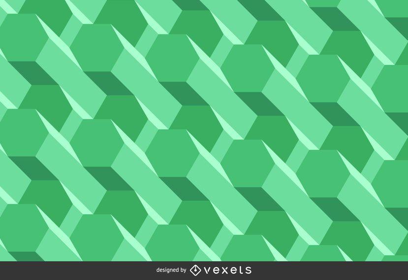 Fundo poligonal verde abstrato