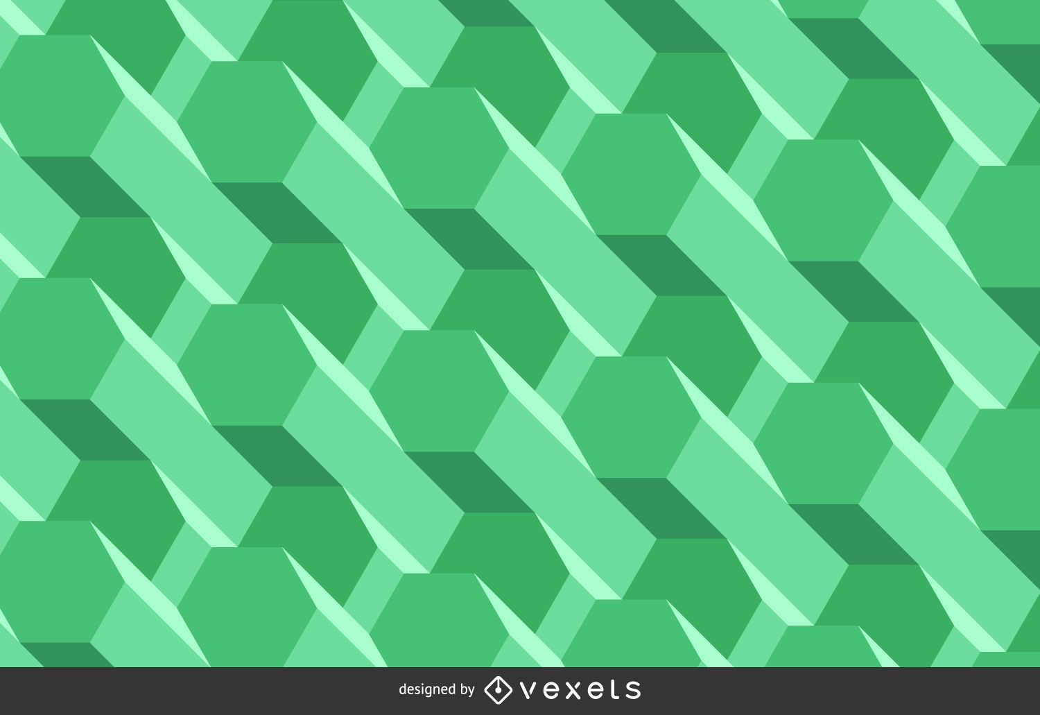abstract green polygonal background vector download