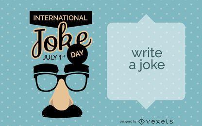 Diseño de tarjeta de broma del día