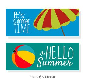 2 banners horizontales de verano