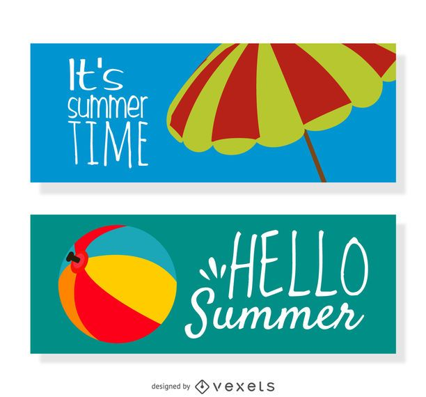 2 horizontal Summer banners