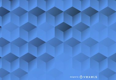 3D fondo hexagonal