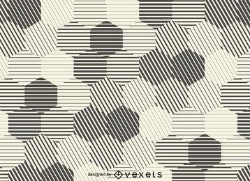 Fondo de rayas hexagonales