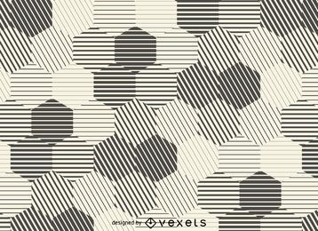 Hexagonal stripes background
