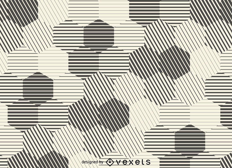 Hexagonal stripes background