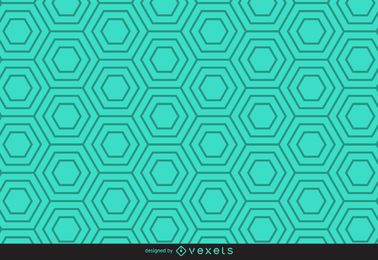 Patrón hexagonal lineal verde