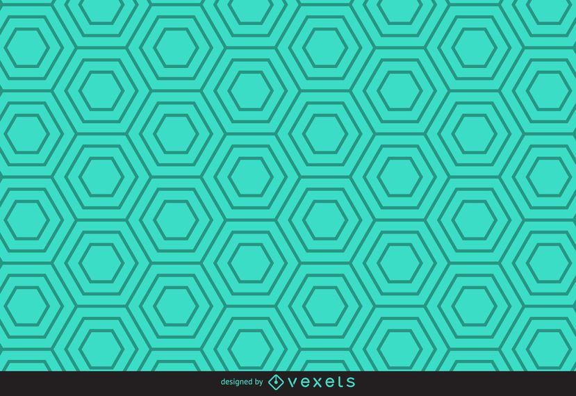 Padrão hexagonal linear verde