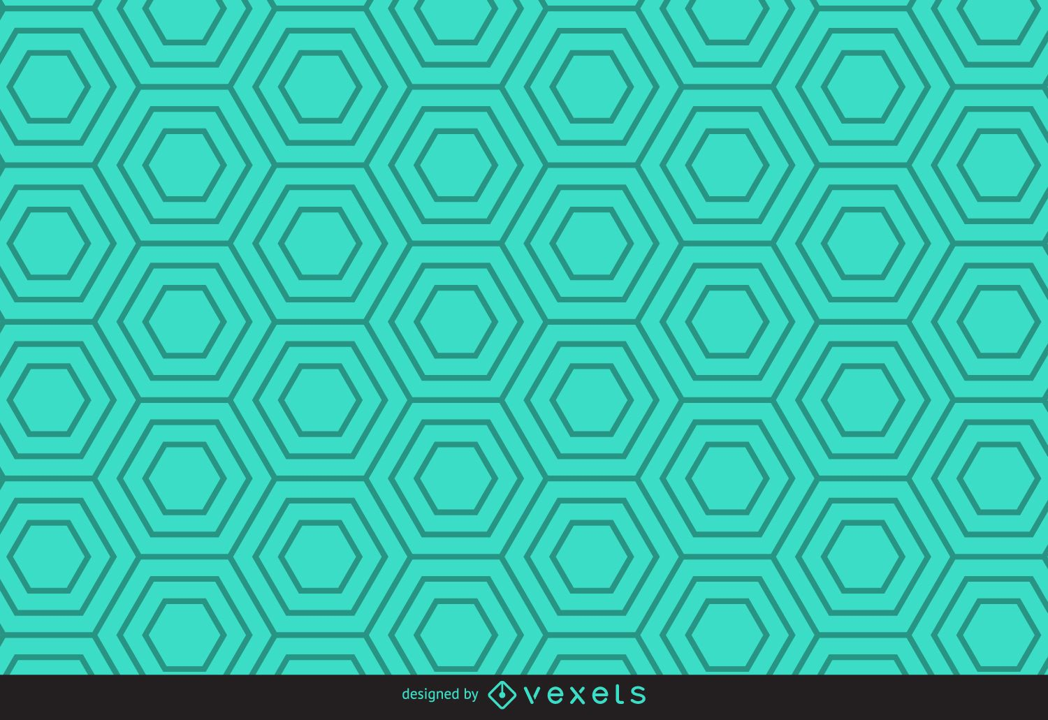 Green linear hexagonal pattern - Vector download