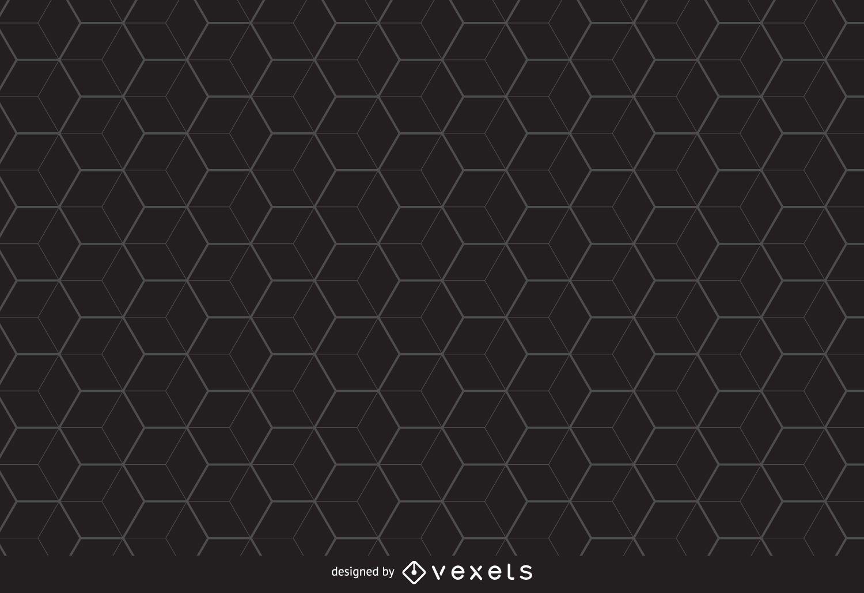 Fondo de patrón hexagonal lineal