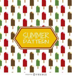 padrão de verão picolés