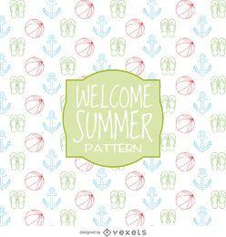 Design de padrões de elementos de verão
