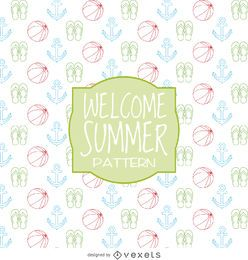 Summer elements pattern design