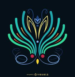 Cartel de ilustración de rayas