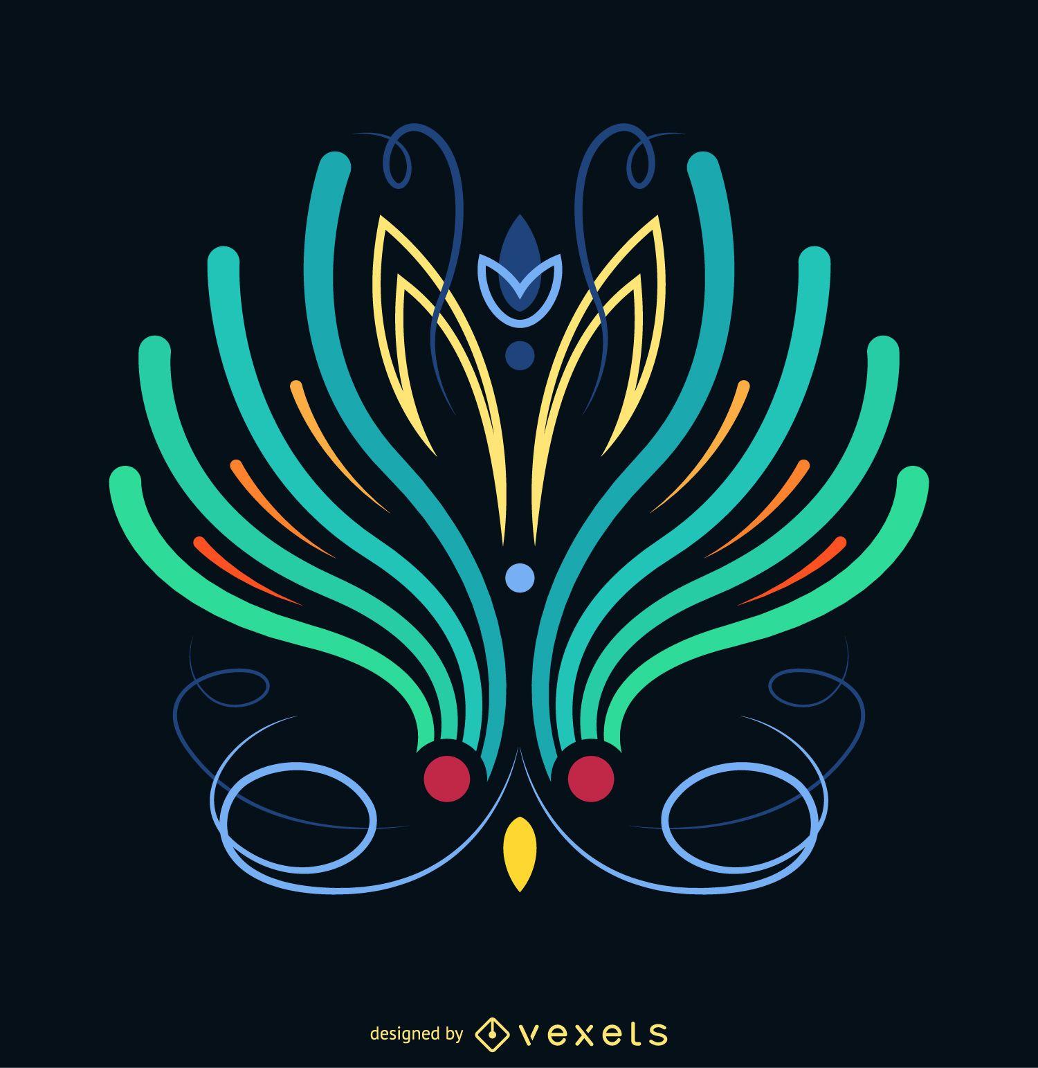 Pinstripe illustration poster