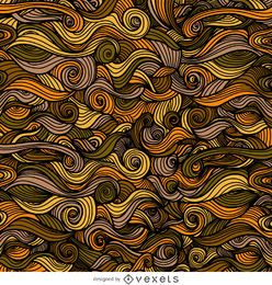 Autumn ornamental curly swirls background