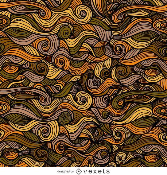 Fondo de remolinos rizado ornamental de otoño