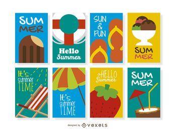 Kollektion mit 8 Sommerdesigns
