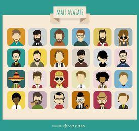 24 coleção de avatar masculino