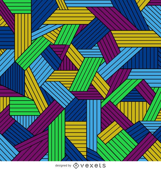 Colorful geometrical lined background