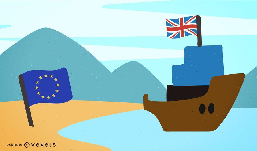 Brexit - UK leaves European Union design