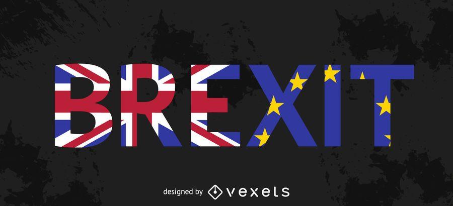 Brexit - typographic flags design