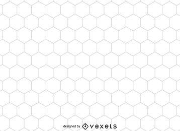 Padrão de favo de mel hexagonal