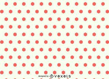 Hexágono sin fisuras patrón de puntos