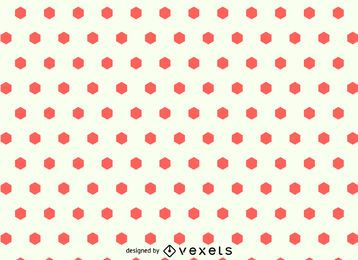 Patrón sin fisuras de puntos hexagonales