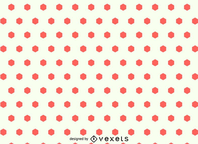 Hexagon dots seamless pattern