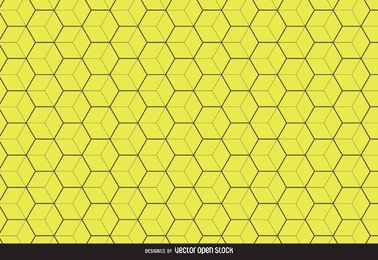 Fondo de patrón hexagonal amarillo