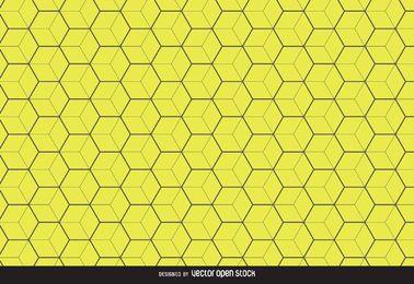 Fundo amarelo padrão hexagonal