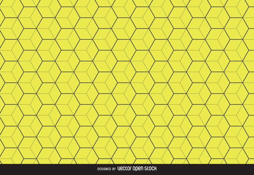 Yellow hexagon pattern background