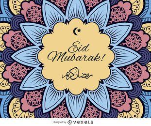 Eid Mubarak diseño colorido