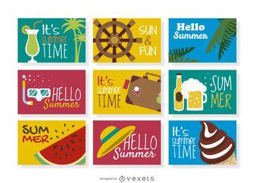 colección de placas de verano