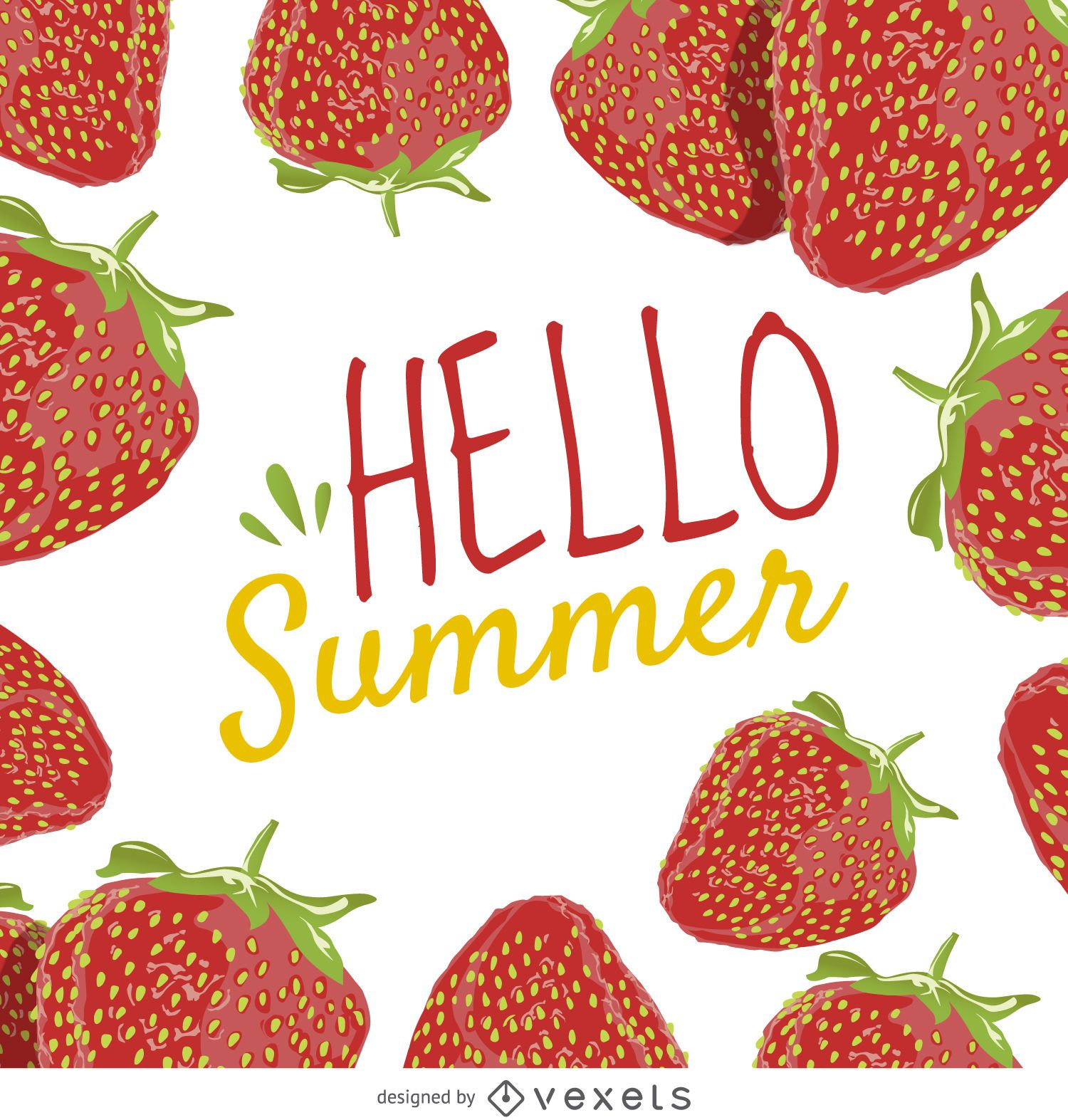 Summer strawberry poster