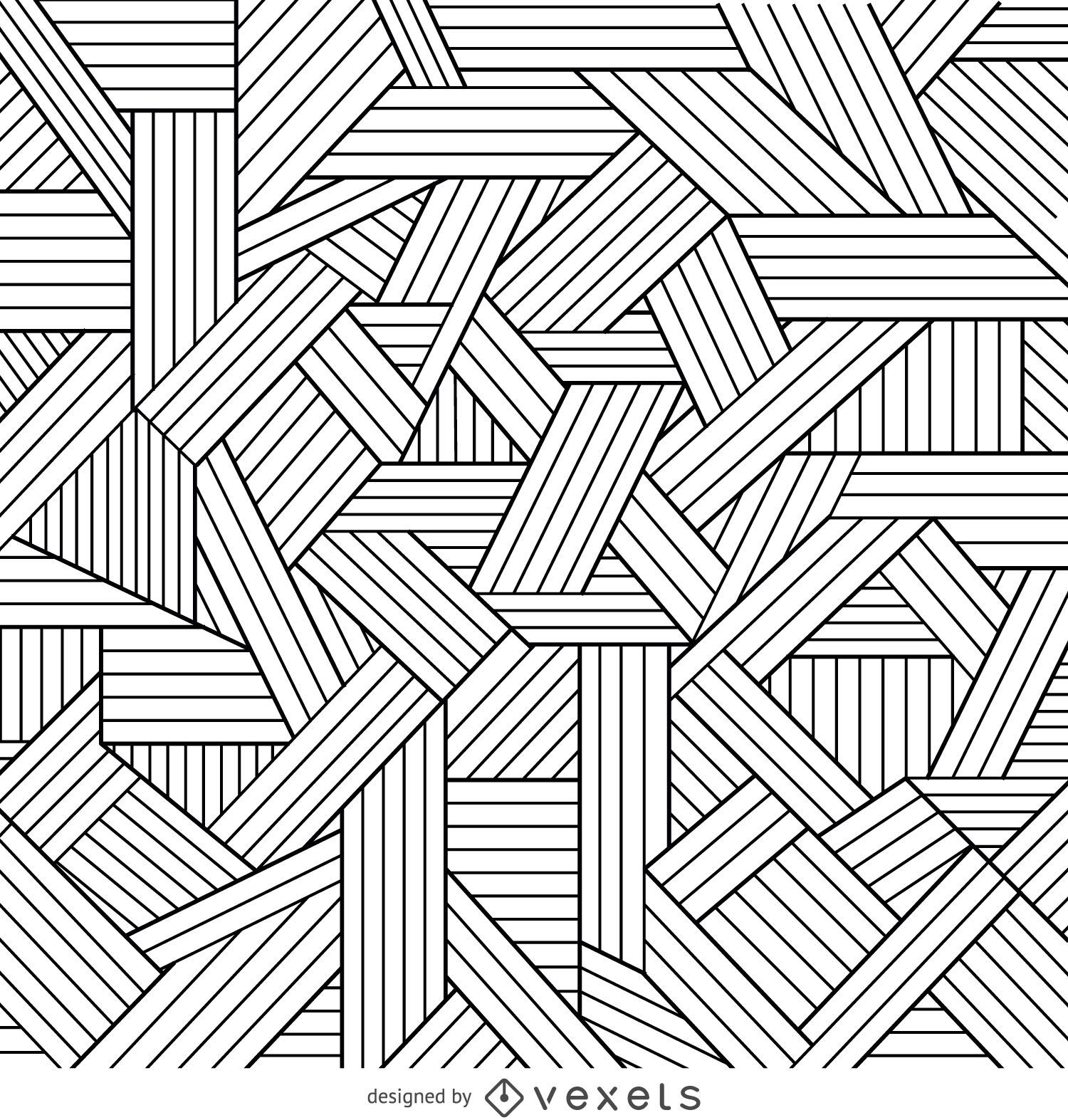 Decorative geometric outlines background vector download for Background coloring pages