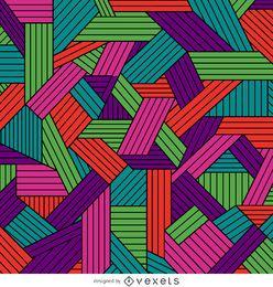 Dekoratives geometrisches Muster in Farbe
