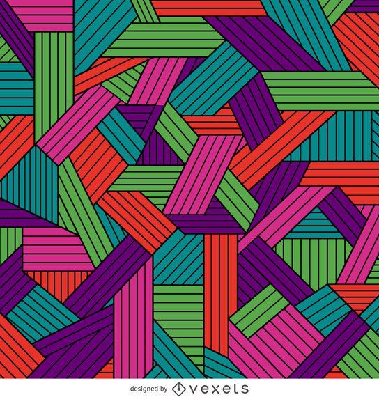 Color ornamental geometric pattern