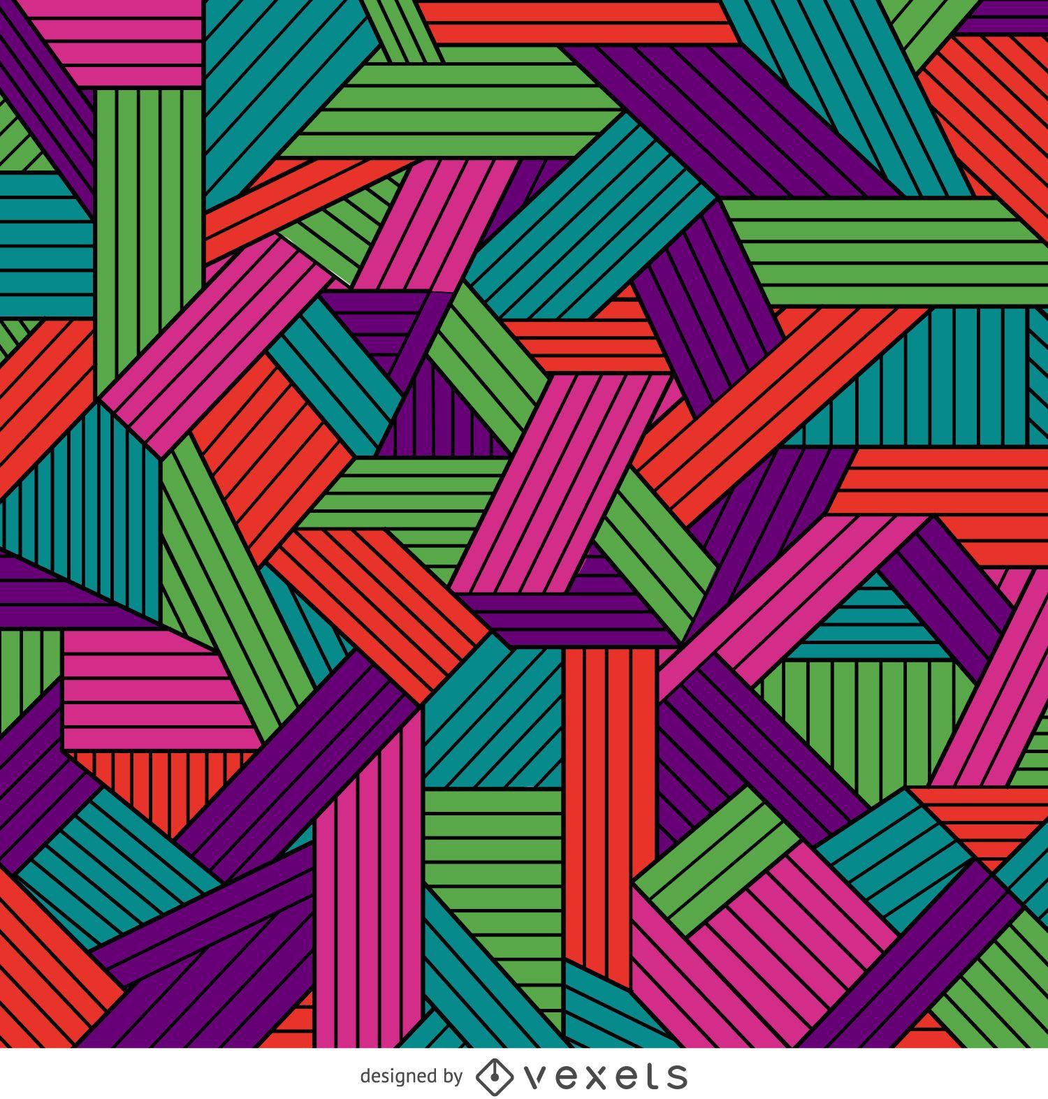 Patrón geométrico ornamental de color