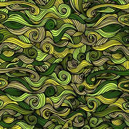 Fundo verde redemoinhos encaracolados