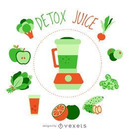 Detox juice element poster