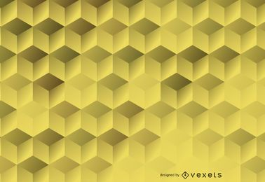 3D hexagonal backdrop
