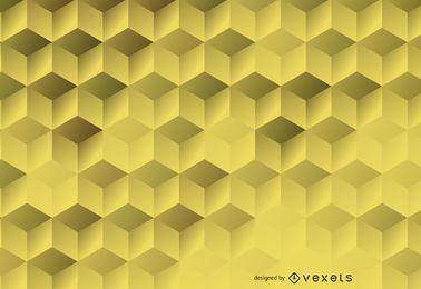 Telón de fondo hexagonal 3D