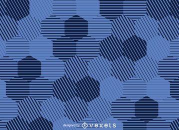 Fondo hexagonal a rayas.