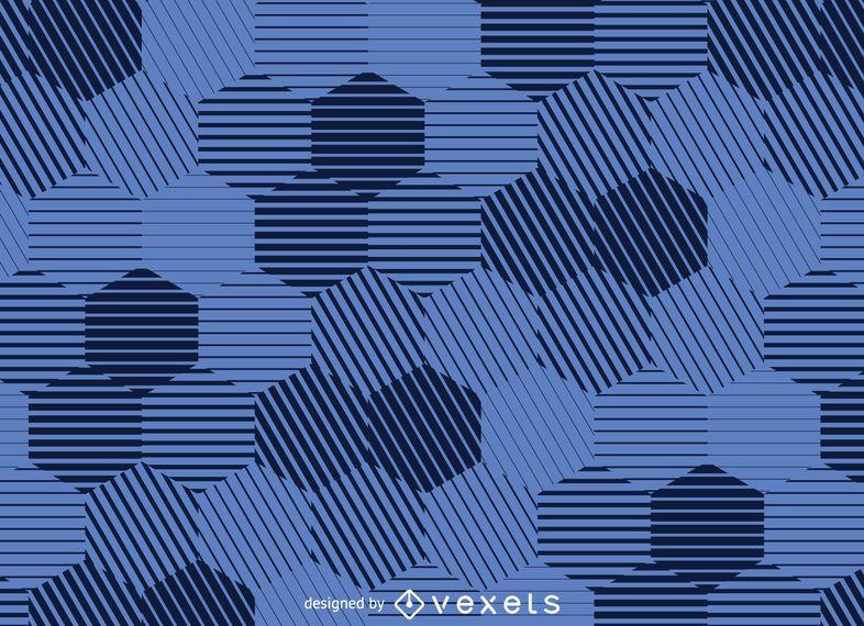 Striped hexagonal background