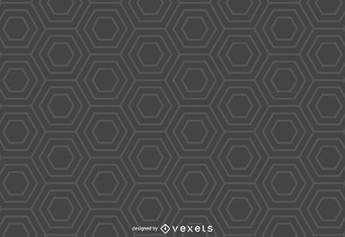 Fundo cinza padrão de hexágono